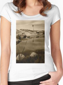 Peggy's Cove Lighthouse Women's Fitted Scoop T-Shirt