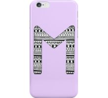 'M' Patterned Monogram iPhone Case/Skin