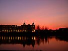 View over the Thames at sunset by Themis
