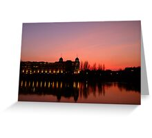 View over the Thames at sunset Greeting Card