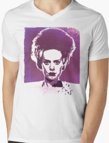 Bride of Frankenstein Mens V-Neck T-Shirt