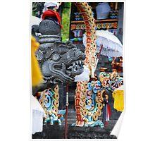 Dragon altar at a Balinese Hindu temple Poster