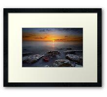 Hunstanton sunset Framed Print