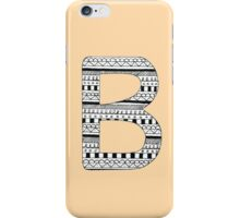 'B' Patterned Monogram iPhone Case/Skin