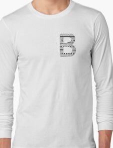 'B' Patterned Monogram Long Sleeve T-Shirt