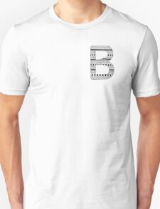 'B' Patterned Monogram Unisex T-Shirt