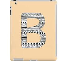 'B' Patterned Monogram iPad Case/Skin