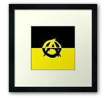 Voluntaryism is Anarchy Framed Print