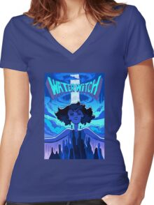 Lapis Lazuli Water Witch Women's Fitted V-Neck T-Shirt