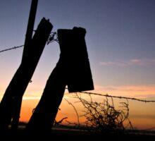 Sunrise over Cascade Valley Sticker