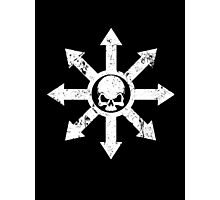 Mark of Chaos Distressed White Photographic Print
