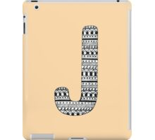 'J' Patterned Monogram iPad Case/Skin