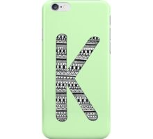 'K' Patterned Monogram iPhone Case/Skin