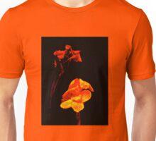 Canna Lilies on Black Unisex T-Shirt