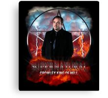 Supernatural Crowley King of Hell Canvas Print