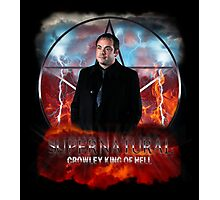 Supernatural Crowley King of Hell Photographic Print