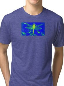 Yellow Dragonfly Tri-blend T-Shirt