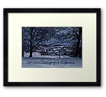 Christmas Greetings from Kirknewton Framed Print