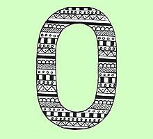 'O' Patterned Monogram by tadvani