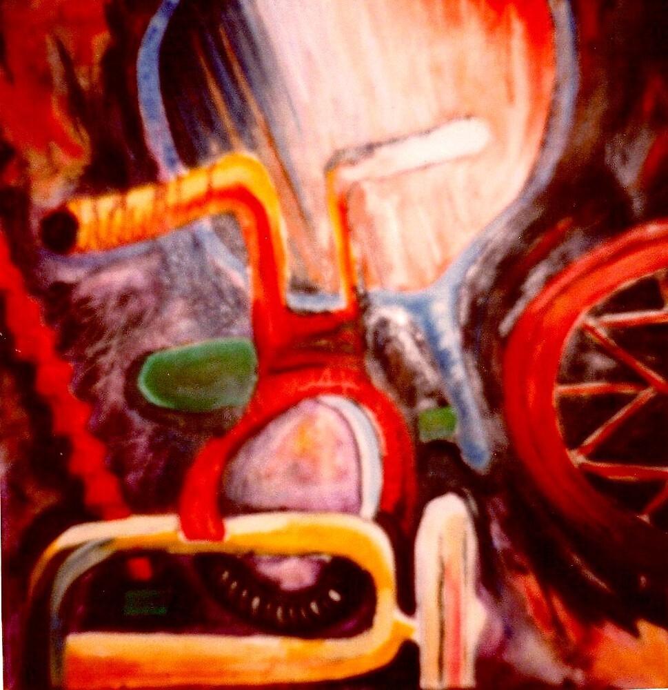 Still Life With Child's Bike. by Richard  Tuvey