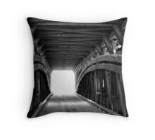 Light at the End of Hunsecker Mill Covered Bridge Throw Pillow