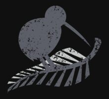 KIWI bird and a SILVER FERN distressed version by jazzydevil