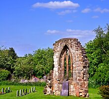 East Window Remains, Old Church at Ticknall by Rod Johnson