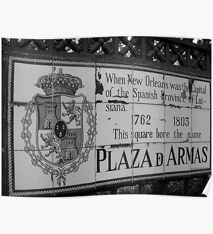 Plaza D Armas- New Orleans, Louisiana Poster
