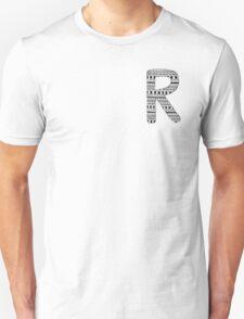 'R' Patterned Monogram T-Shirt