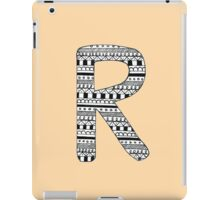 'R' Patterned Monogram iPad Case/Skin