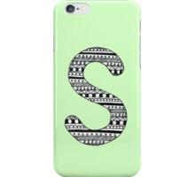'S' Patterned Monogram iPhone Case/Skin