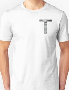 'T' Patterned Monogram T-Shirt