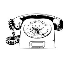 Retro Rotary Phone - Dumb Phone Photographic Print