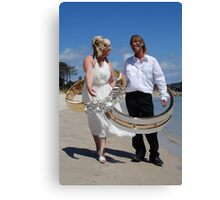 Marriage of Heather & Steve Canvas Print