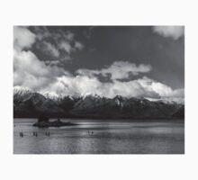 Lake Nahuel Huapi, Patagonia, Argentina (Black & white) Kids Clothes