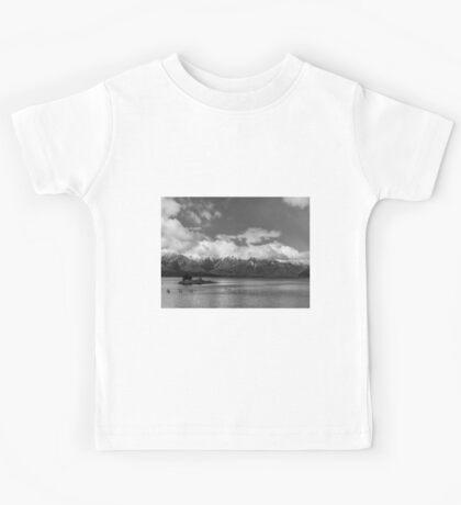 Lake Nahuel Huapi, Patagonia, Argentina (Black & white) Kids Tee