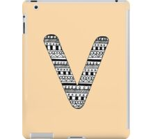 'V' Patterned Monogram iPad Case/Skin