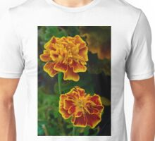 Marigolds by sunset Unisex T-Shirt