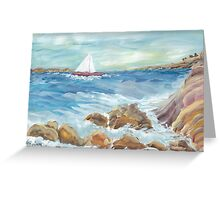 Surf on the Rocks Greeting Card