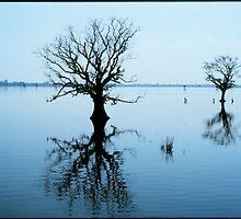 Blue Lake Thaungthaman Burma, Mandalay by Mathieu Grandjean