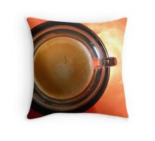 Coffee geometrics Throw Pillow
