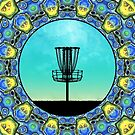 Disc Golf Abstract Basket 5 by Phil Perkins