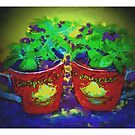 coffee cups / inspired by Barb  by bev langby