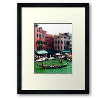 Little gondolier Framed Print