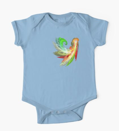 Colorful Bird  fractal abstract One Piece - Short Sleeve