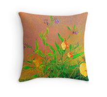 Yellow Papavers................................Most Products Throw Pillow