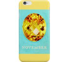 Watercolor Birthstone Gems, November iPhone Case/Skin