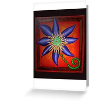 Crazy Clematis Flower Greeting Card
