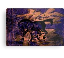 Asian Watercolour Horse ... Metal Print