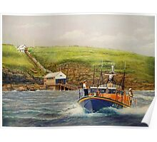Royal National Lifeboat Institution To The Rescue Poster